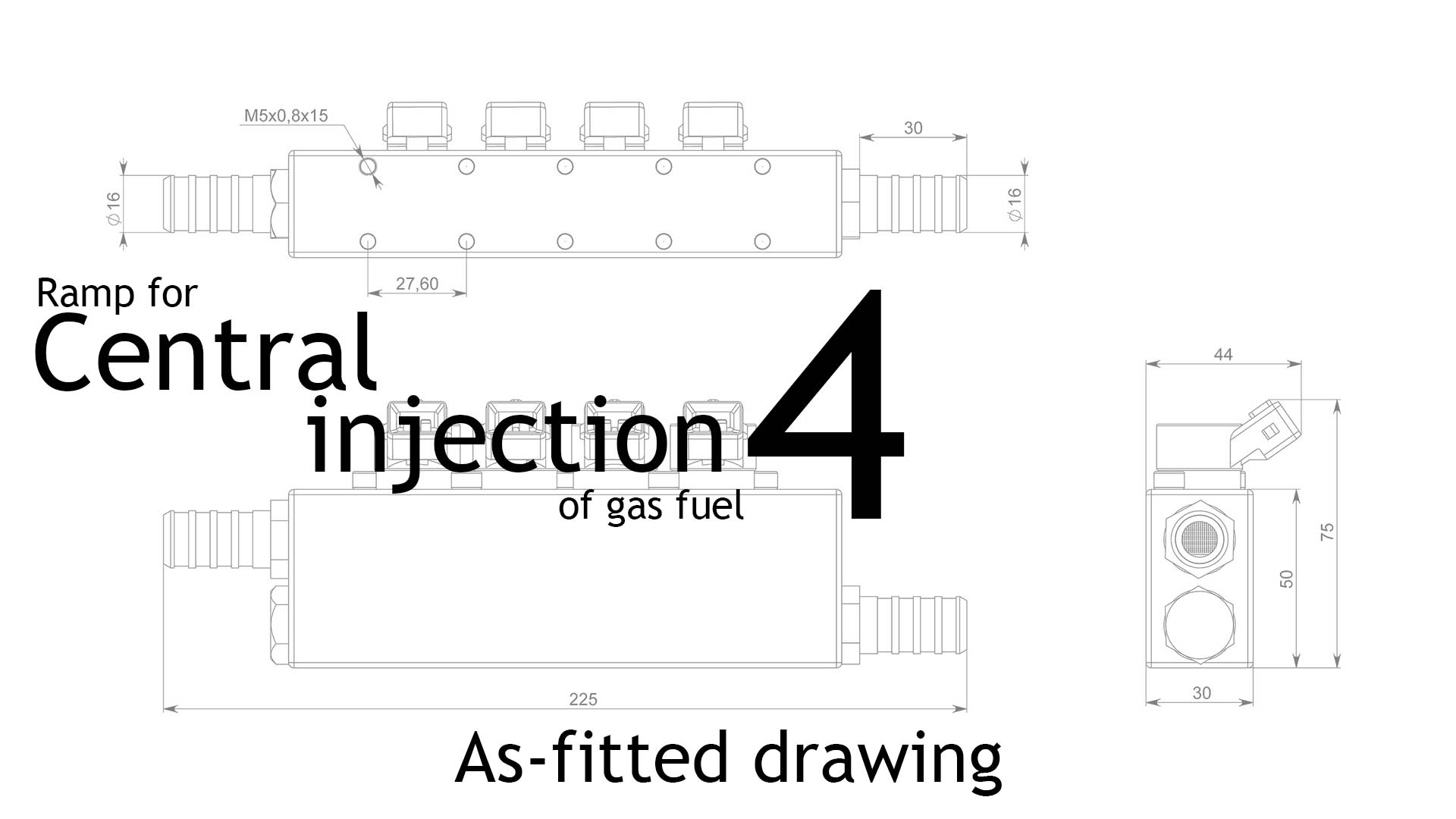 Central injection of gas fuel NPP Slavgas